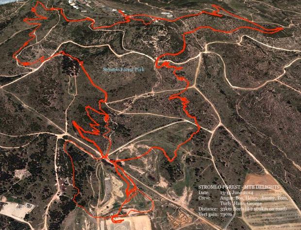 Stromlo MTB Map