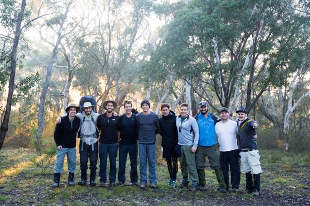 The crew before setting out: Daniel Bos, Daniel Frank, Richie Doff, Seb Ruiz, Shaun Greenblo, Jason Shein, Josh Biggs, Lee Leibowitz, Tal Bergman and Rick Munitz