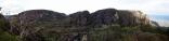 Panorama of the mountainside